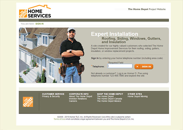 Home depot project services