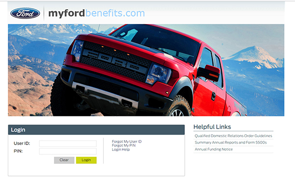www.myfordbenefits.com - Ford Employee Login